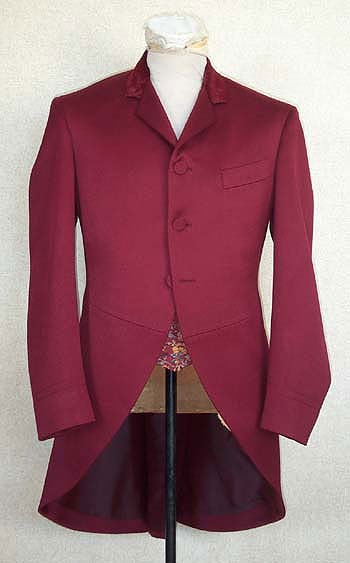 Morning Coat red 1890s